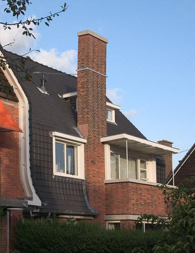 dakdetail Nieuwe Haagse School in Marlot