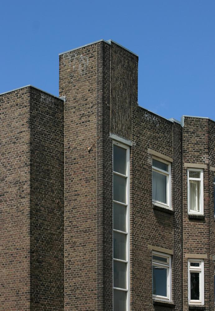 gevel detail architectuur nieuwe haagse school