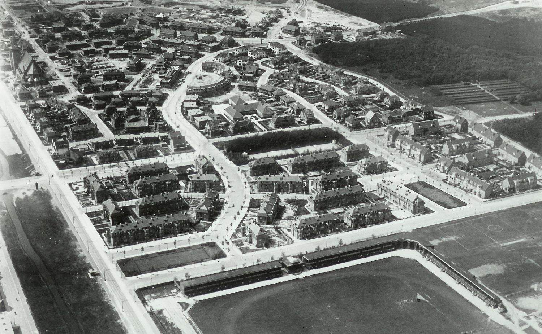 historische luchtfoto vogelwijk